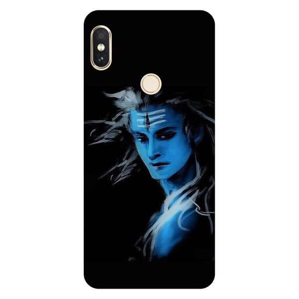 Hamee- Blue black Shiva-Printed Hard Back Case Cover For Xiaomi Mi 8-Hamee India