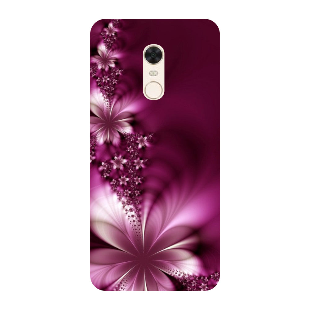 the latest 1c83e 1ca90 Purple flowers- Printed Hard Back Case Cover for Xiaomi Redmi Note 5