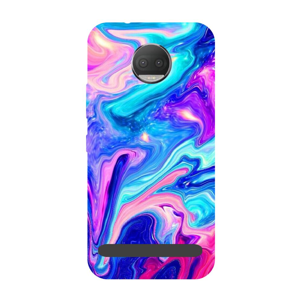 Abstract paint- Printed Hard Back Case Cover for Moto Z3 Play-Hamee India