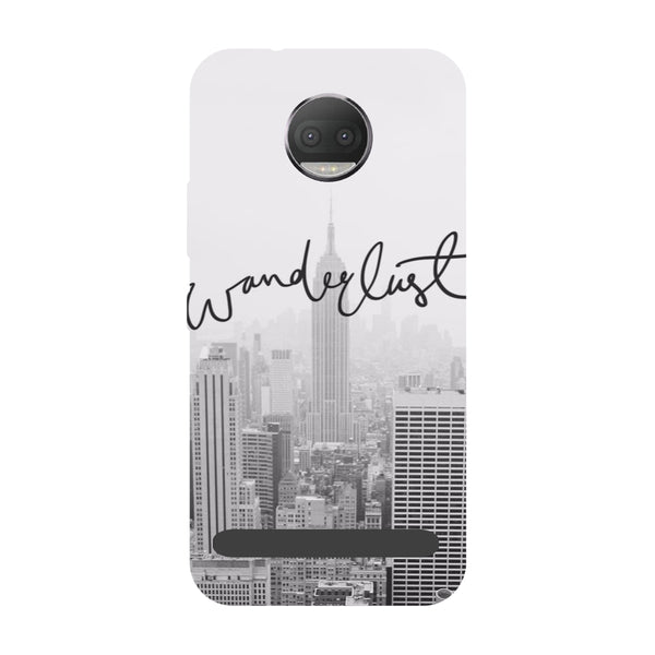 Wanderlust- Printed Hard Back Case Cover for Moto Z3 Play