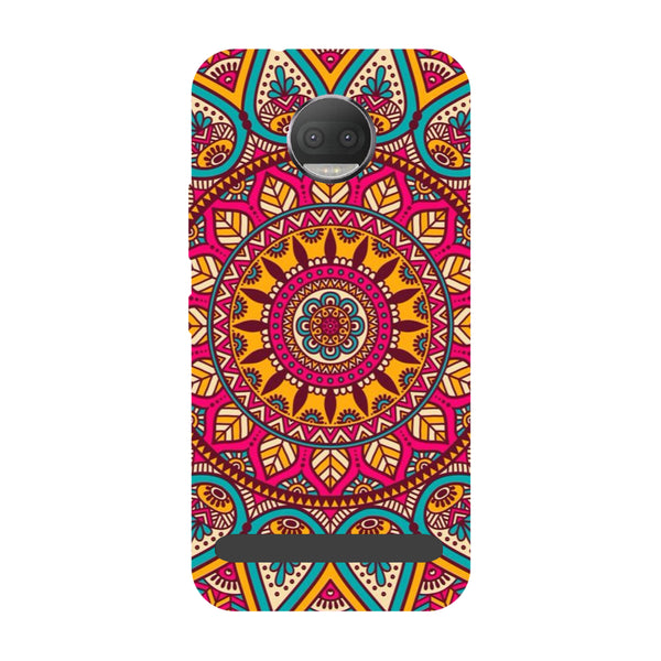 Mandala- Printed Hard Back Case Cover for Moto Z3 Play