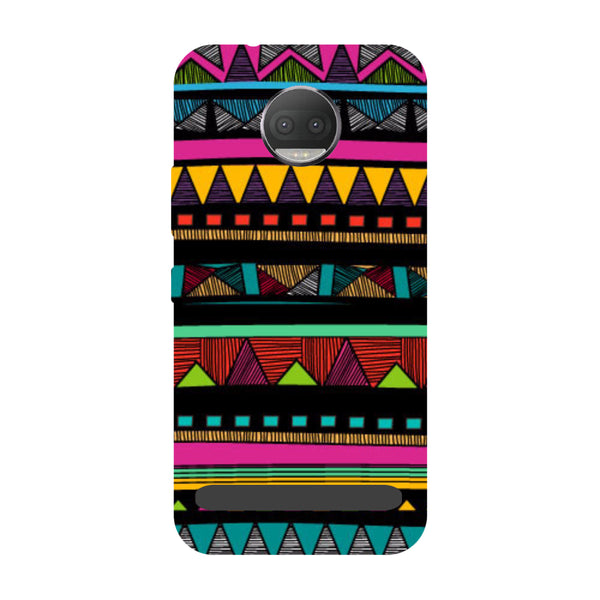 Tribal- Printed Hard Back Case Cover for Moto Z3 Play-Hamee India