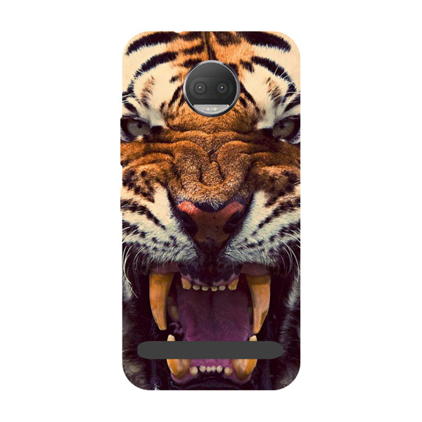 Tiger- Printed Hard Back Case Cover for Moto Z3 Play-Hamee India