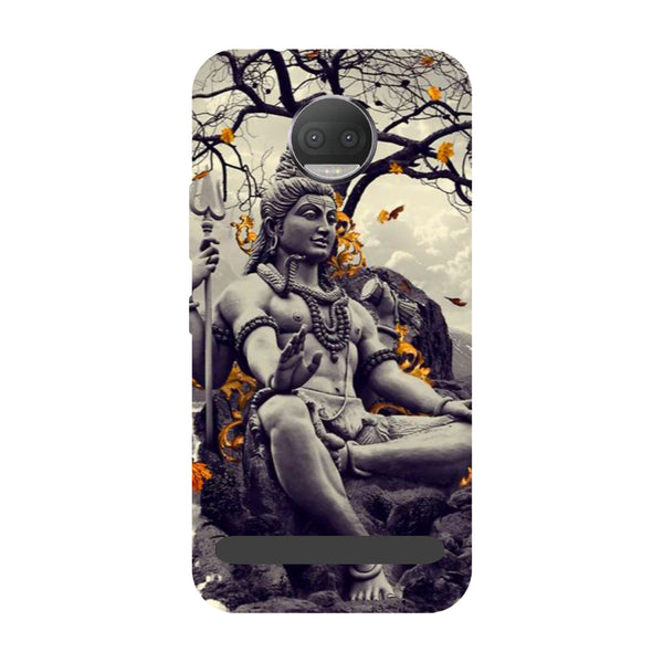 Grey Shiv ji- Printed Hard Back Case Cover for Moto Z3 Play-Hamee India