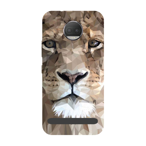 Lion abstract- Printed Hard Back Case Cover for Moto Z3 Play-Hamee India
