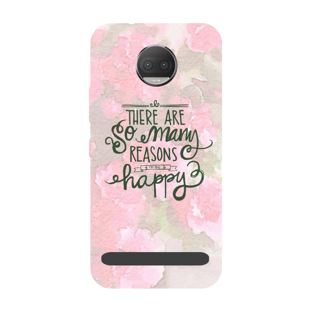 Be Happy- Printed Hard Back Case Cover for Moto Z3 Play