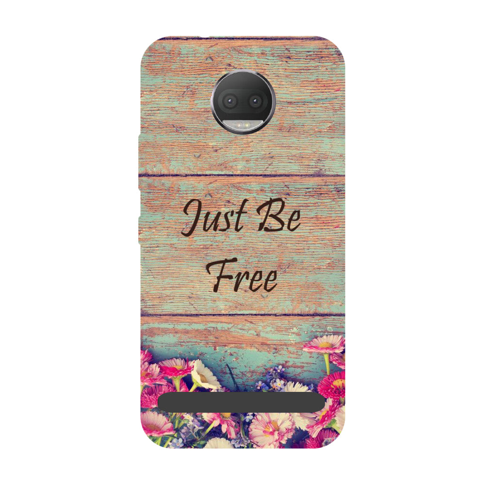 Be free- Printed Hard Back Case Cover for Moto Z3 Play