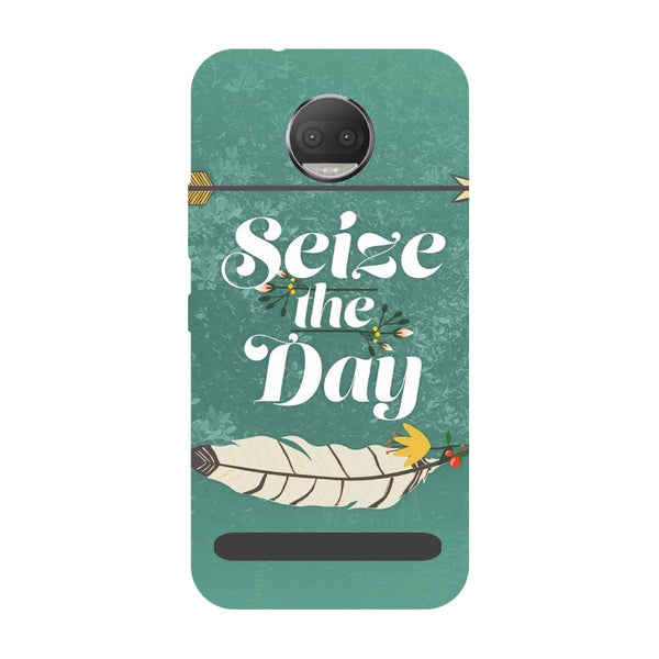 Seize the day- Printed Hard Back Case Cover for Moto Z3 Play