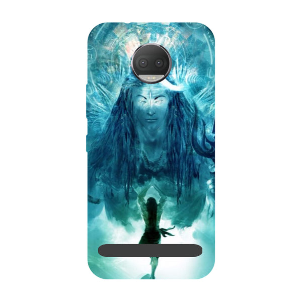 Standing shiv ji- Printed Hard Back Case Cover for Moto Z3 Play