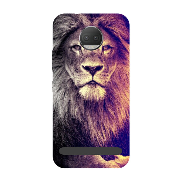 Lion- Printed Hard Back Case Cover for Moto Z3 Play