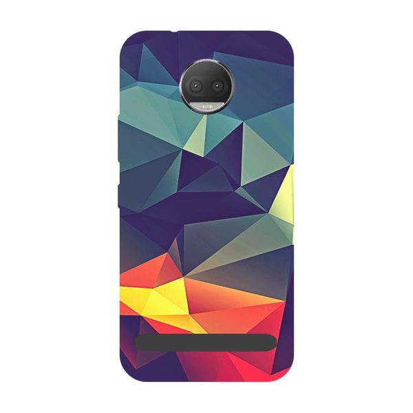 Abstract- Printed Hard Back Case Cover for Moto Z3 Play-Hamee India