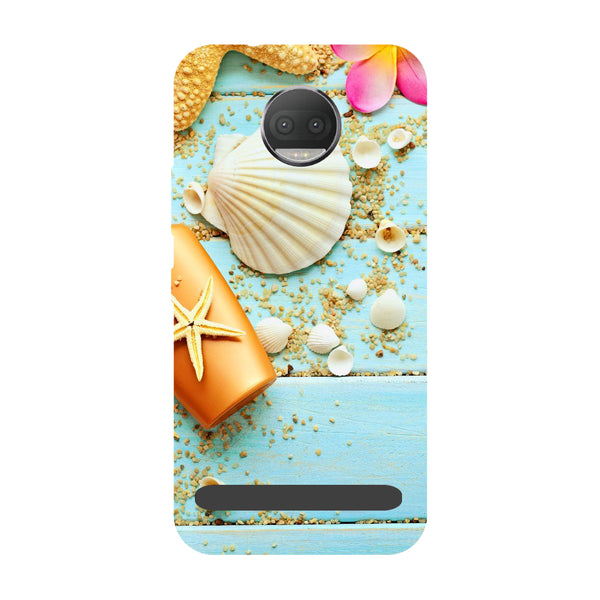 Shells- Printed Hard Back Case Cover for Moto Z3 Play