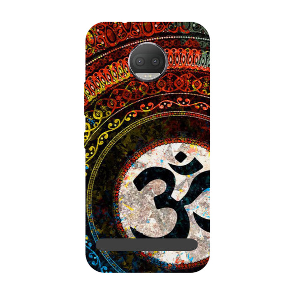 Om- Printed Hard Back Case Cover for Moto Z3 Play-Hamee India