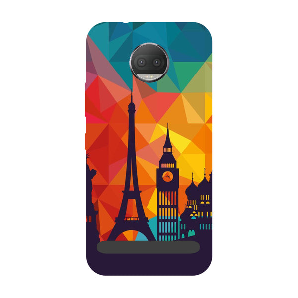 seven wonders- Printed Hard Back Case Cover for Moto Z3 Play