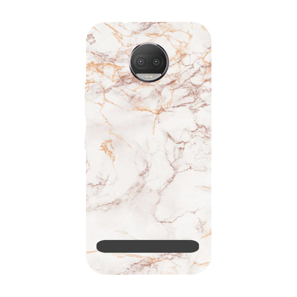 Marble- Printed Hard Back Case Cover for Moto Z3 Play