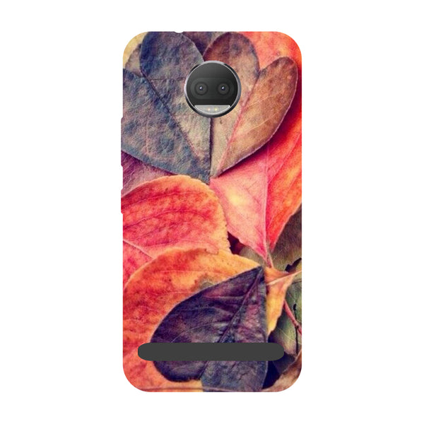 Heart Leaf- Printed Hard Back Case Cover for Moto Z3 Play-Hamee India