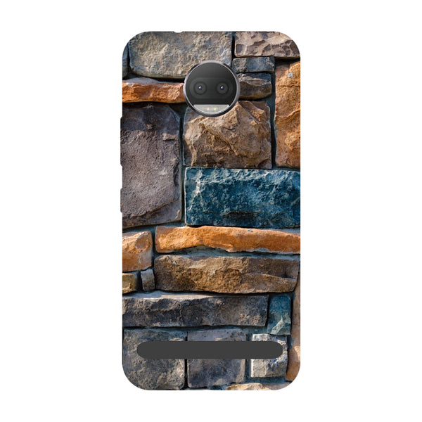 Stone Wall- Printed Hard Back Case Cover for Moto Z3 Play