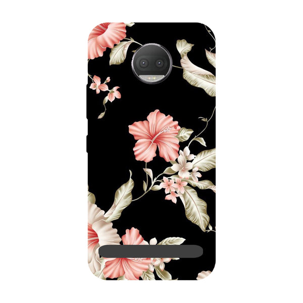 Flowers- Printed Hard Back Case Cover for Moto Z3 Play-Hamee India