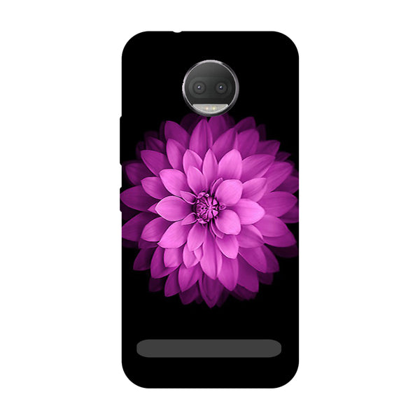 Flower purple- Printed Hard Back Case Cover for Moto Z3 Play-Hamee India