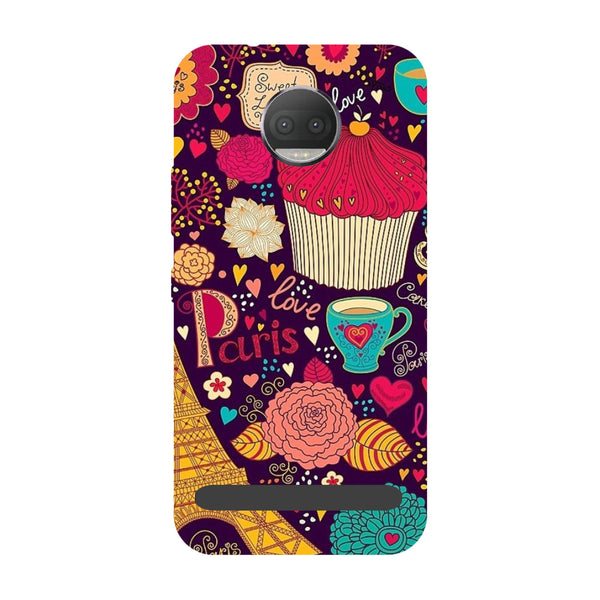Cupcake- Printed Hard Back Case Cover for Moto Z3 Play-Hamee India