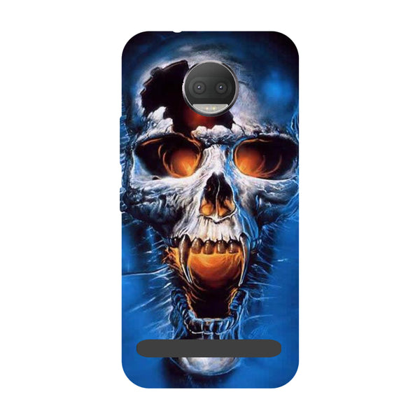 Skull blue- Printed Hard Back Case Cover for Moto Z3 Play-Hamee India