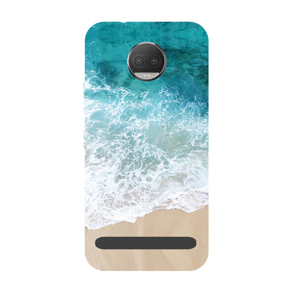 Sea- Printed Hard Back Case Cover for Moto Z3 Play