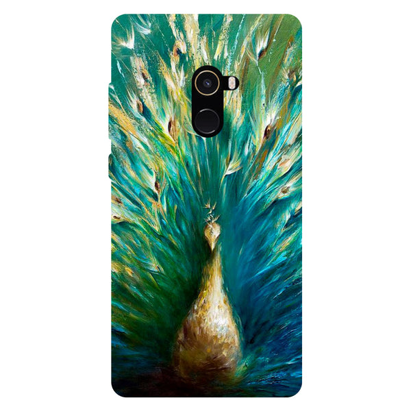 Green Peacock - Hard Back Case Cover for Xiaomi Mi Mix 2-Hamee India