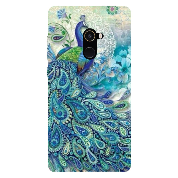 Blue Peacock - Hard Back Case Cover for Xiaomi Mi Mix 2-Hamee India