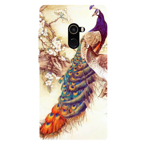 Peacock 1 - Hard Back Case Cover for Xiaomi Mi Mix 2-Hamee India