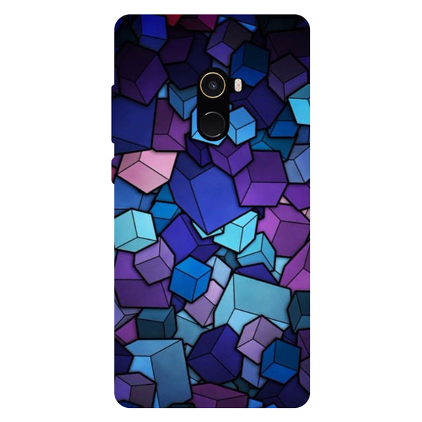 Cubes - Hard Back Case Cover for Xiaomi Mi Mix 2-Hamee India