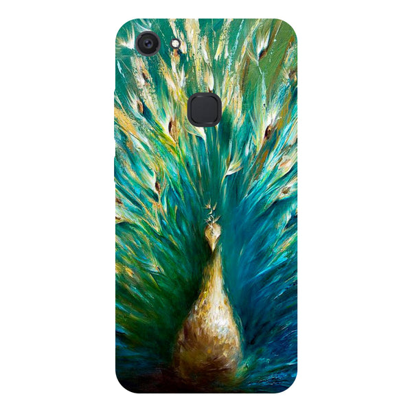 Green Peacock - Hard Back Case Cover for Vivo V7 Plus-Hamee India