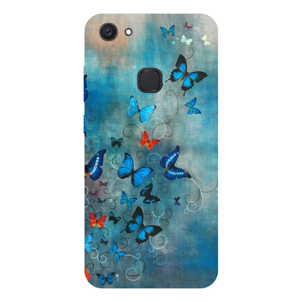 Butterflies - Hard Back Case Cover for Vivo V7 Plus-Hamee India