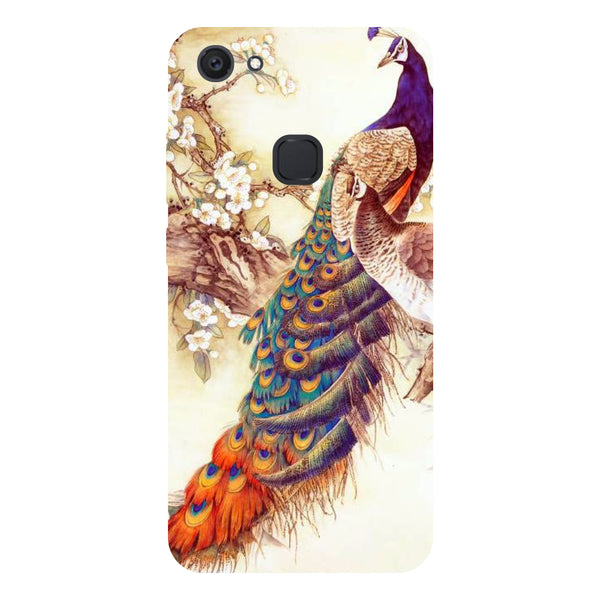 Peacock 1 - Hard Back Case Cover for Vivo V7 Plus-Hamee India