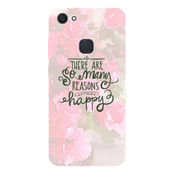 Hamee - Reasons to be Happy - Designer Printed Hard Back Case Cover for Vivo V7 Plus