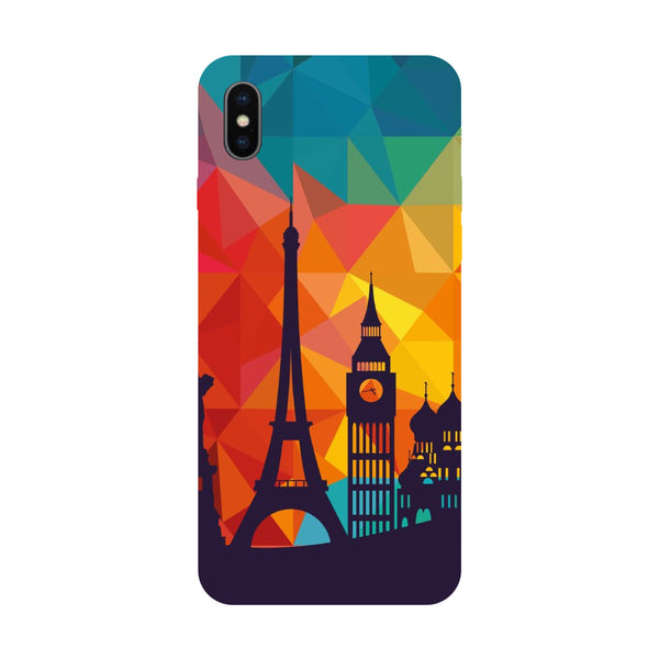 Hamee - City Life - Designer Printed Hard Back Case Cover for Apple iPhone X