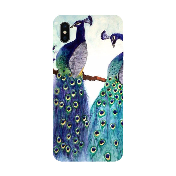Peacock Pair - Hard Back Case Cover for Apple iPhone X-Hamee India