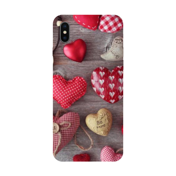 Hearts & Love - Hard Back Case Cover for Apple iPhone X-Hamee India