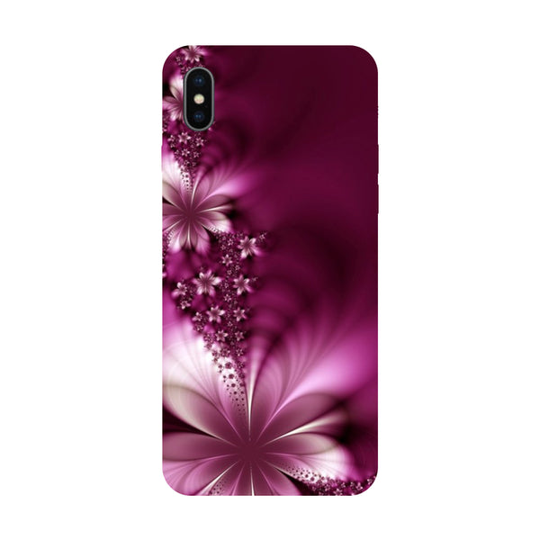 Purple Flower - Hard Back Case Cover for Apple iPhone X-Hamee India