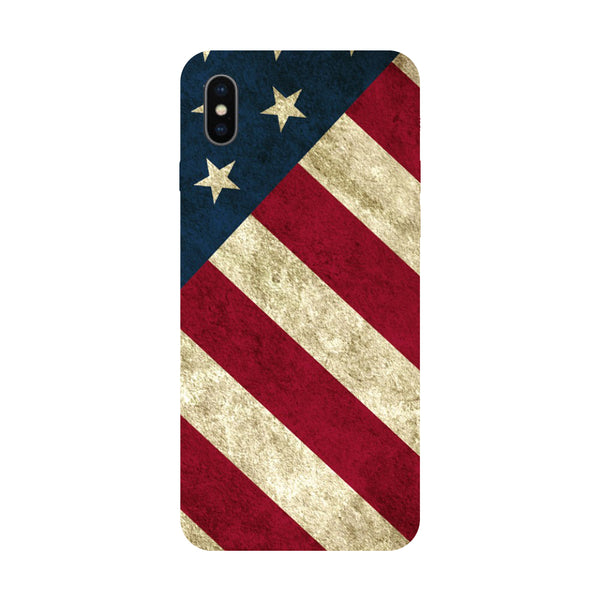 US Flag - Hard Back Case Cover for Apple iPhone X-Hamee India