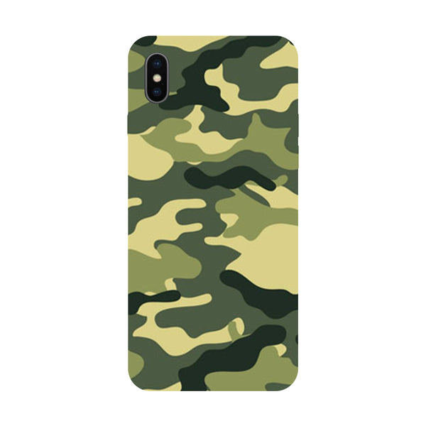 Camouflage - Hard Back Case Cover for Apple iPhone X-Hamee India