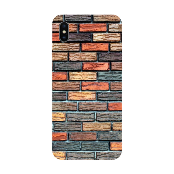Bricks - Hard Back Case Cover for Apple iPhone X-Hamee India