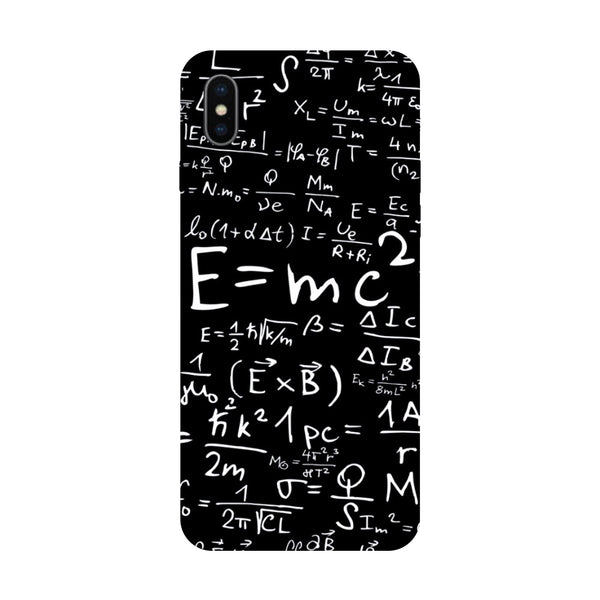 Hamee - E=MC2 - Designer Printed Hard Back Case Cover for Apple iPhone X
