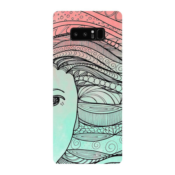 Hamee - All Green - Designer Printed Hard Back Case Cover for Samsung Galaxy Note 8