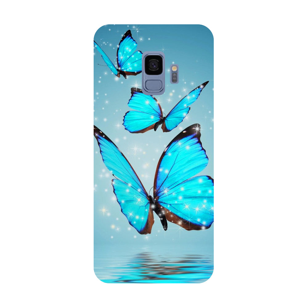 Blue Butterflies- Printed Hard Back Case Cover for Samsung Galaxy S9-Hamee India