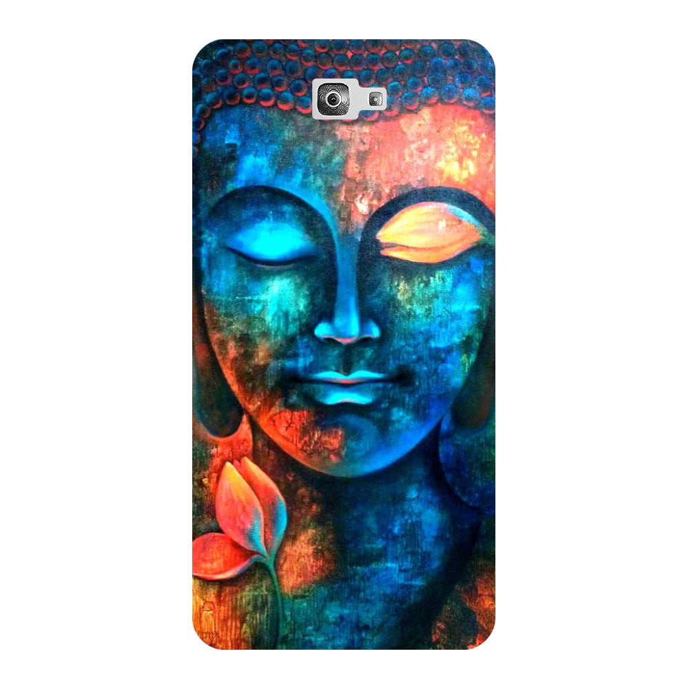 Buddha Printed Hard Back Case Cover For Samsung Galaxy On7 Prime Gold
