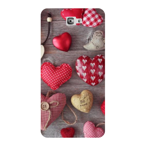 Hearts & Love - Printed Hard Back Case Cover for Samsung Galaxy On7 Prime-Hamee India