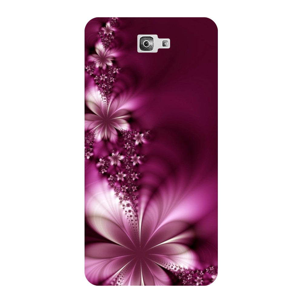 various colors f3d0f 85b64 Purple Flower - Printed Hard Back Case Cover for Samsung Galaxy On7 Prime