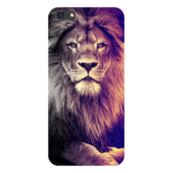 Lion- Printed Hard Back Case Cover for iPhone SE2