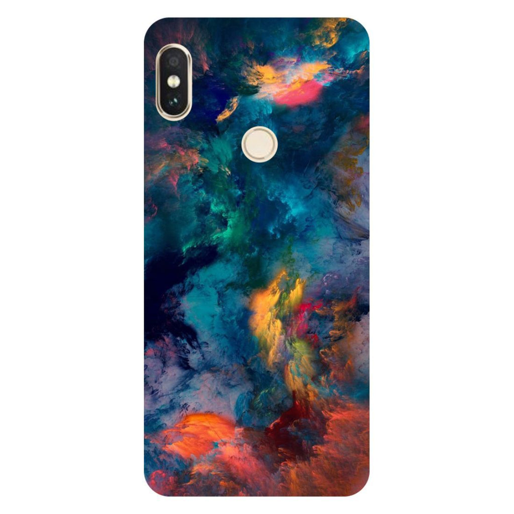 Abstract Fumes Mi A2 Back Cover-Hamee India