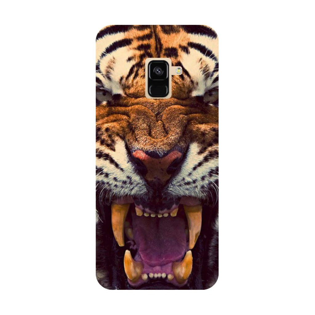 Tiger- Printed Hard Back Case Cover for Samsung Galaxy A6 (2018)-Hamee India